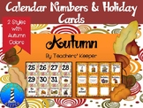 Autumn Calendar Cards (Fall Colors)