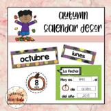 Autumn Calendar Decor en Español