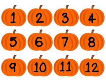 Autumn Calendar Set