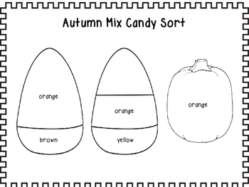 Autumn Candy Corn Mix Sort, Graph, and Add