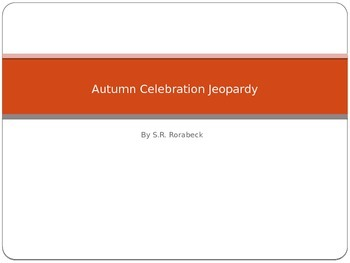 Autumn Celebration Jeopardy