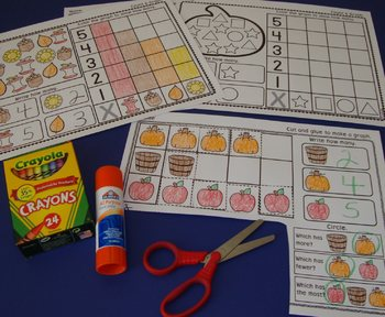 Autumn Centers Graphs Fall Graphing Activities Math Autumn Activities