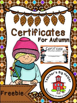 Autumn Certificates