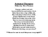 Autumn Changes Poem