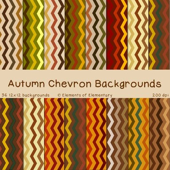 Autumn Chevron Backgrounds for Commercial Use (Fall Digital Papers)