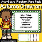 Autumn Chevron ActivInspire Flipchart Page Pack