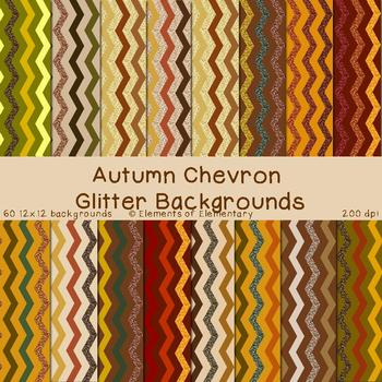 Autumn Chevron Glitter Backgrounds for Commercial Use (Fall Digital Papers)
