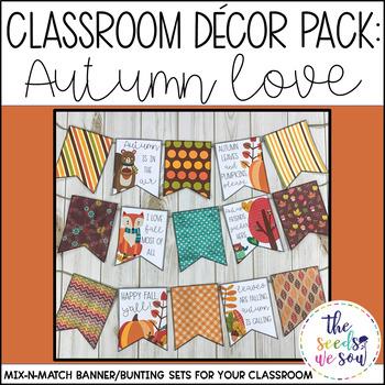 Autumn Classroom Decor Banner Pack