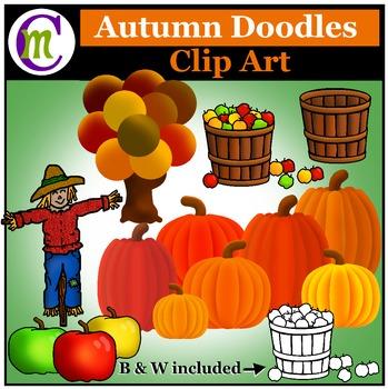 Autumn Doodles Clip Art