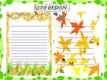 Fall - Writing paper - Clip Art - Personal or Commercial Use