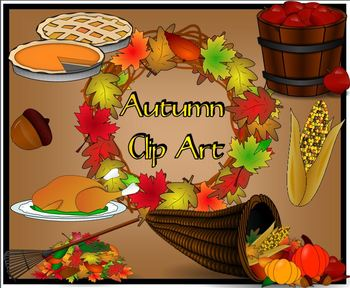 Autumn Clip Art for Personal or Commercial Use