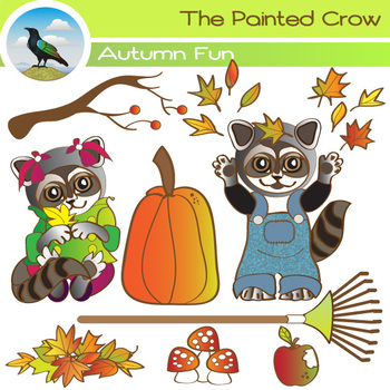 Free Autumn Clipart Set - 8 Piece Fall Leaves Fun Pack Fea