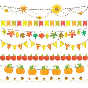 Autumn Clipart Set - Instant Download