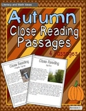 Autumn Close Reading Passages