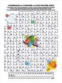 Autumn Codebreaker Word Puzzle, Illustrated, Commercial Use Allowed