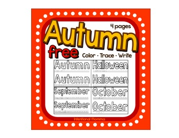Autumn Color and Trace Freebie