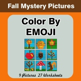 Autumn: Color by Emoji - Mystery Pictures