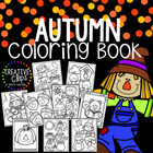 Fall Coloring Pages {Made by Creative Clips Clipart}