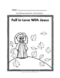 Autumn Coloring Page and Activity Sheet by Biblecation