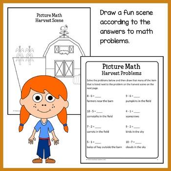 Fall Math Puzzles - 1st Grade Common Core
