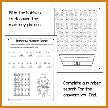 Fall Math Puzzles - 2nd Grade Common Core