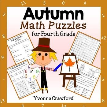 Fall Math Puzzles - 4th Grade Common Core