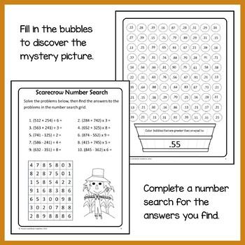 Fall Math Puzzles - 5th Grade Common Core