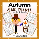 Fall Math Puzzles - 5th Grade Common Core - Autumn