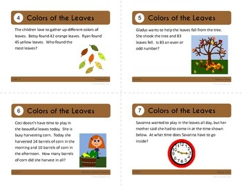 Fall Task Cards - Second Grade Common Core Math