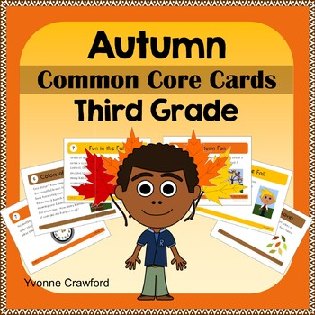 Fall Task Cards - Third Grade Common Core Math