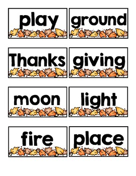 Autumn Compound Word Match