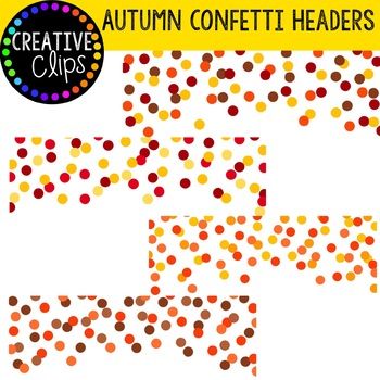 Autumn Confetti Headers {Creative Clips Digital Clipart}