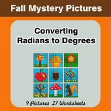 Autumn: Converting Radians To Degrees - Math Mystery Pictu