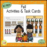 Fall Clip Task Cards