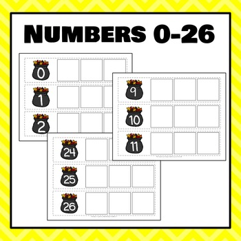 Autumn Number Count On Strips