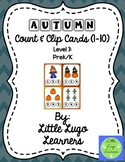 Fall Scarecrow (Level 3) Autumn Count and Clip Cards 1-10