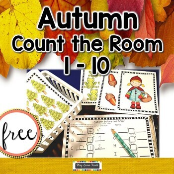 Autumn Count the Room 1-10  FREE