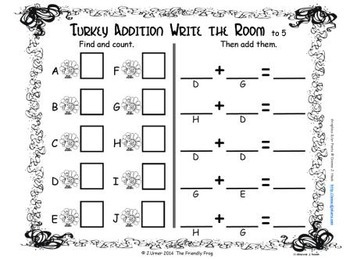 Autumn Counting, Addition & Subtraction with Ten Frames {Subitizing}