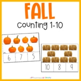 Autumn Counting Cards | 1-10