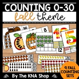 Autumn Counting Clip Cards 0-30