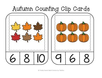 Autumn Counting Frame Clip Cards