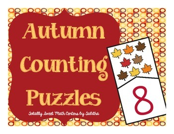 Autumn Counting Self-Checking Puzzles