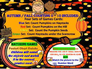 Autumn Counting Set One: 0 to 10