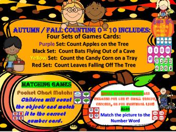 Autumn Counting Set Two: Zero to Ten