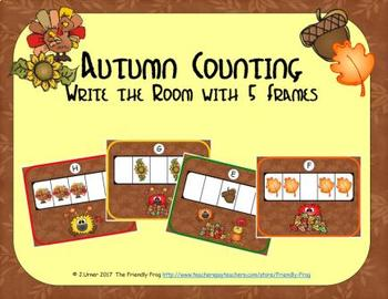 Autumn Counting with 5 Frames {Subitizing}
