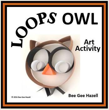 LOOPS OWL  Halloween Fraction Craft  (art activity with a little bit of math)
