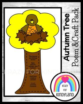 Autumn Craft: Leaves Are Falling Down Tree and Crow
