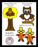 Autumn Craft Pack: Owl, Tree Poem, Christopher Columbus, Leaf Man