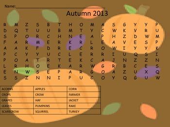 Autumn Crossword Hunt