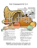 Autumn Crossword Puzzle gr 2-4